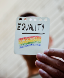 Equality and Pride Rainbow on Notebook Paper